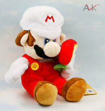 Super Mario Bros. Plush Fire Mario with flower Soft Toy Stuffed Animal Doll 7""
