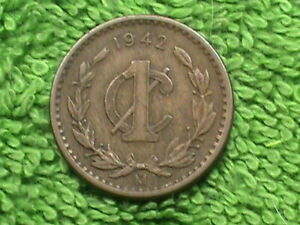 MEXICO 1 Centavo 1942 XF COMBINED
