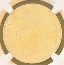 1894 China Hong Kong 50 Cent Victoria Silver Coin NGC VF Details