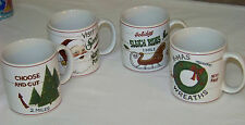 Set of 4 MUGS: SAKURA - David Carter Brown - SIGNS OF CHRISTMAS