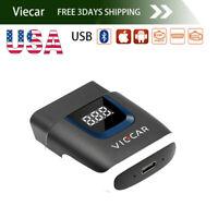 US Viecar ELM327 V2.2 OBD 2 OBD-II Bluetooth 4.0+USB Car Auto Diagnostic Scanner