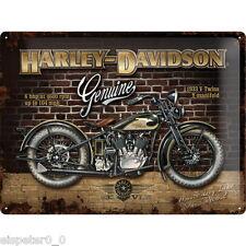 Blechschild 30 x 40, Harley Davidson Brick Wall, Werbeschild Art. 23124
