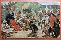 RARE Tsarist Russia postcard 1909 Market of Eastern Slavs. Slaves. Vikings. IX c