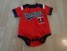 Infant/Baby Minnesota Twins 0/3 Mo Creeper One-Piece Polyester (Red)
