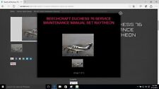 Beechcraft Duchess 76 Service maintenance raytheon library + engine O/H w A/Ds