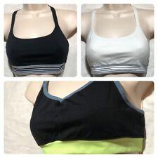 Lot/3 Athleta Sports Bras Medium Black White Strappy T Back Yoga Bra Athletic