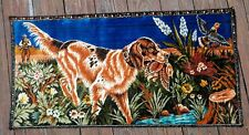 VTG Pointer Hunting Dog Bird Scene Tapestry Rug Wall Hanging Country Decor Prop
