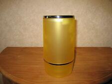 LAURA LYS *NEW* Rafraichisseur plexi jaune H.23cm D.11,5cm