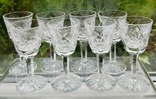 "8 X WATERFORD CRYSTAL 'ASHLING' 3 1/2"" LIQUEUR/CORDIAL GLASSES"