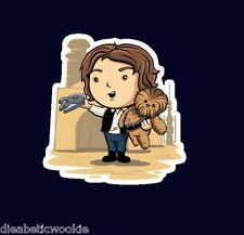 Star Wars Han Solo Chewbacca lightsaber Sticker decal car laptop scrapbooking