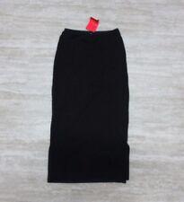 NWT American Apparel Women's Colorblock Side Slit Skirt Black/ Blue