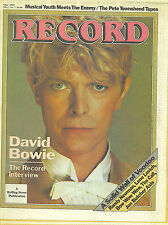 5/83 RECORD magazine  DAVID BOWIE cover  Randy Newman  Wall Of Voodoo