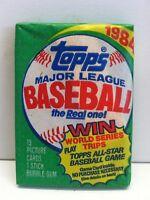 1984 Topps Baseball Unopened Wax Pack