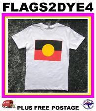 Aboriginal flag size 18 LARGE T Shirt NAIDOC Indigenous flag WHITE