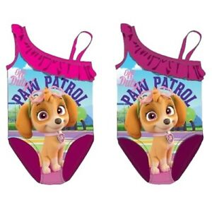 Paw Patrol Badeanzug Mädchen Bademode Pink 92-116 One Shoulder NEU