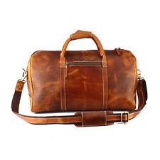 Buffalo Leather Duffle Bag Mens Travel Aircabin Carryon Luggage Handbag Weekend