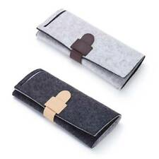 Portable Felt Roll Jewelry Storage Bag Folding Earring Rings Necklaces Organizer