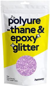 """Hemway Polyurethane & Epoxy Resin Glitter - Extra Chunky 1/24"""" 0.040"""" 1mm (100g)"""