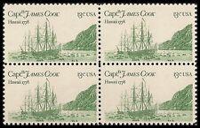 US 1733 Captain James Cook Hawaii 13c block MNH 1978