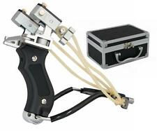 Hunting Fishing High Velocity Folding Steel Slingshot Laser Catapult Wrist Brace