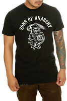 NEW Licensed Sons Of Anarchy Reaper Logo T Shirt Black Motorcycle Club Tee XL