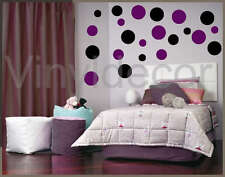 216 POLKA DOTS VINYL WALL ART STICKERS CIRCLE DECAL blv
