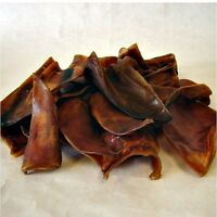 50 x Cut Pigs Ears Dog Treat Reward Training Chew (Halves)