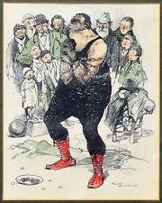 Lithographie von Romeo Dumoulin 1883 - 1944 signiert Artist Kettensprenger