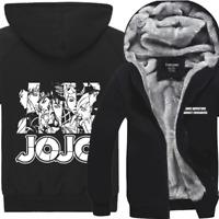 JoJo's Bizarre Adventure Thicken Coat Hoodie Winter Fleece Unisex Sweater Jacket
