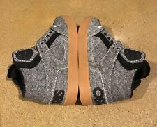 Osiris Clone Size 5.5 US Charcoal Wool NYC 83 BMX DC Skate Shoes Sneakers