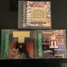 Tetris Plus, Namco Museum Vol. 3, Golden Nugget Casino Gaming PS1 LOT