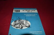 Ford Tractor 902 Rotary Cutter Operator's Manual CHPA