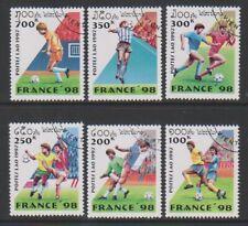 Laos - 1997, World Cup Football set - CTO - SG 1589/94 (b)