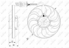 Radiator Fan 47398 NRF Cooling 1C0959455C 1J0959455M 6N0959455L 6X0959455 New