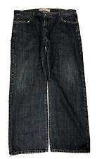 Levi's 505 Dark Blue Denim Regular Fit Men's Red Tab Straight Jeans Size 40 X 29