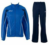Asics T215Z5.4350 Damen Trainingsanzug Suit Luna Lady Blau Größe M