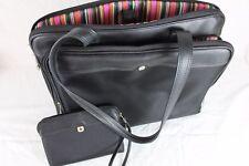 NWOT Wenger Hand Bag Satchel Tote w/ Shoulder Strap & Matching Clutch - Black