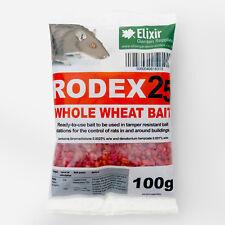 Rodex25 Whole Wheat Rat Poison, Strongest Available Online, 100g Sachets