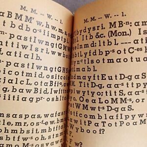 FREEMASON MASONIC antique prayer book? in secret code - RARE Knights of Templar