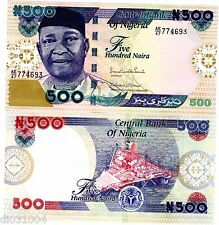 NIGERIA BILLET 500 Naira 2013 P30 AZIKIWE  NOUVEAU UNC NEUF