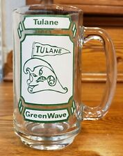 Vintage 1982 Tulane Green Wave Football Glass Mug (LSU Tigers)