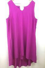 INC Dress Plus Hi Low Good Life Pink Pockets Sleeveless International $120 24W