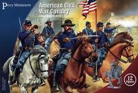 Plastic American Civil War Cavalry - 28mm figures x12 Perry ACW2 – free post