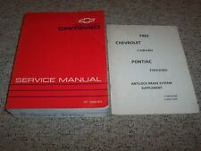 1993 Chevrolet Camaro Factory Workshop Shop Service Repair Manual + Supplement