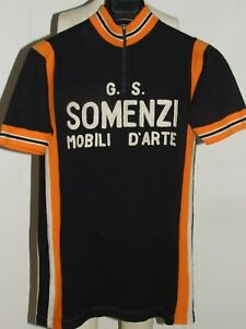 Shirt Bike Shirt Cycling Heroic Vintage 70'S Somenzi 50% Wool Embroidered