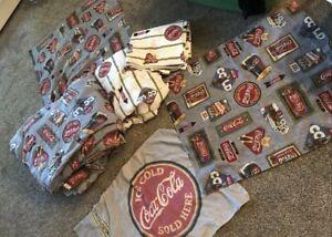 Vintage Coca Cola Queen Size Bedding Set