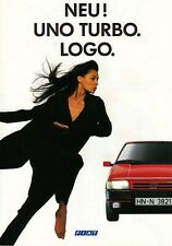 Fiat uno turbo Klein auto clásico Youngtimer folleto brochure 1990 71