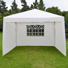 10'X13'EZ POP UP Wedding Party Tent Folding Gazebo Beach Camping Canopy w/sides