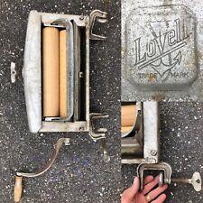 ANTIQUE VTG 1920s LOVELL HAND CRANK LAUNDRY TUB CLOTHES WRINGER WASH METAL CLAMP