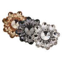 Large 46mm Flower Rhinestone Button with Shank Decorative Button for Sewing